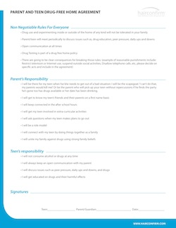 Parent and Teen Drug-Free Home Agreement PDF