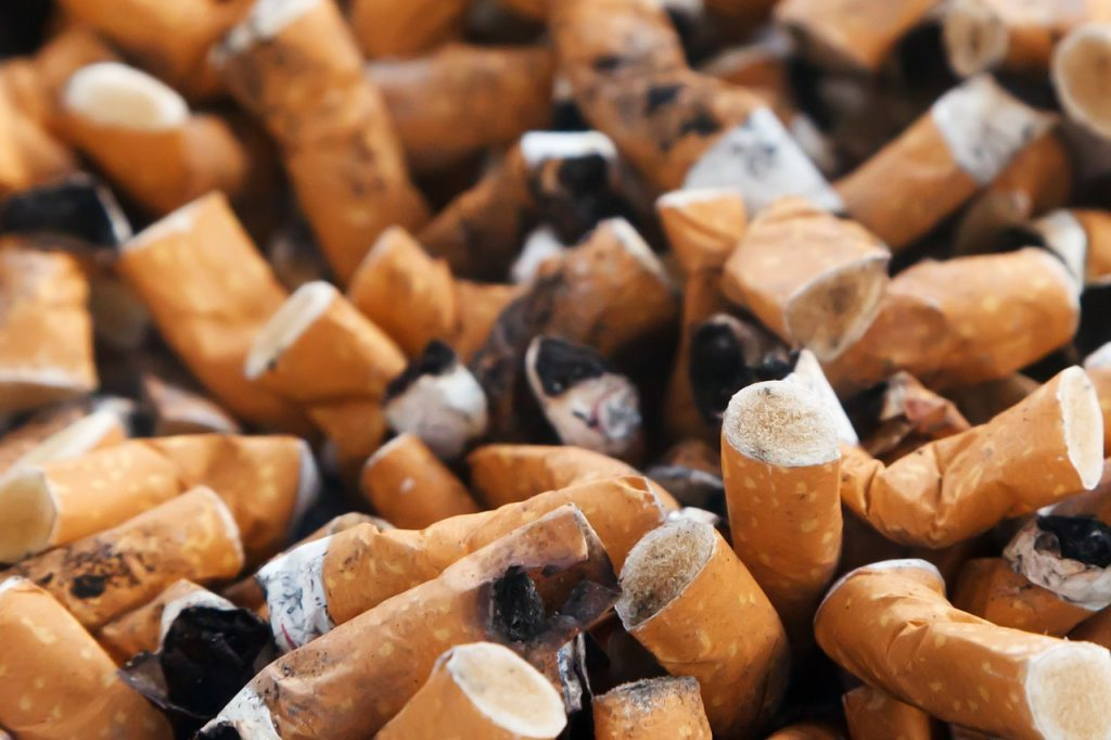 tobacco abuse cigarette butts